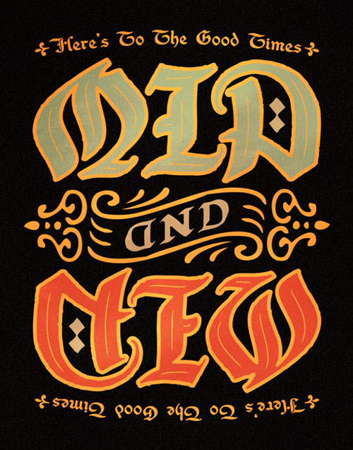 OLD AND NEW AMBIGRAM