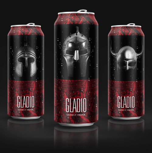 GLADIO Energy Drink Concept Packaging Design