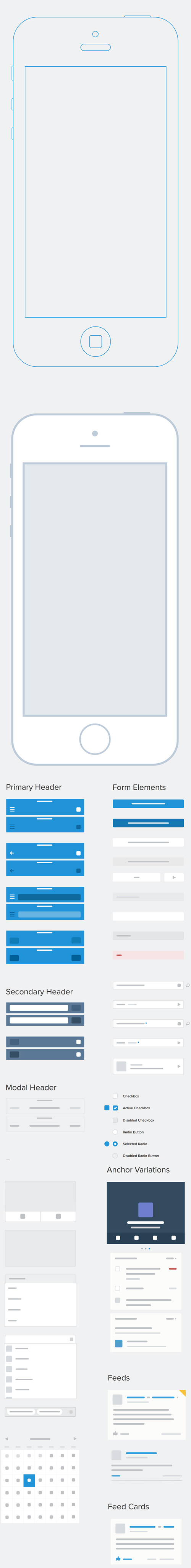 Mobile Sketch Wireframe Kit