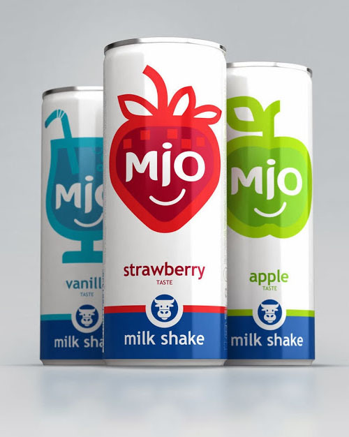 MIO Milk Shake Packaging Design