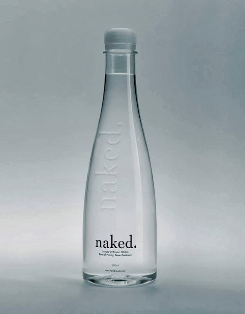Naked Luxury Water Bottle Packaging Design