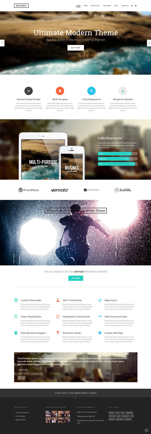 Businis - Ultimate Modern WordPress Theme