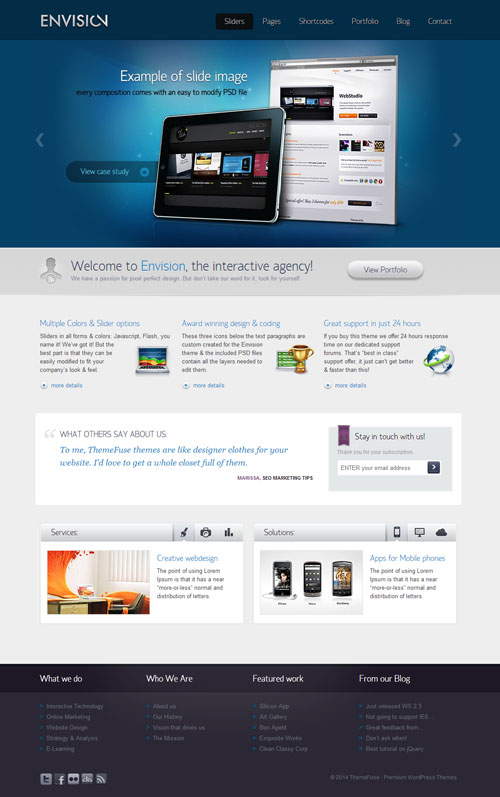 Envision - Business WordPress Theme