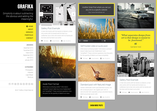 Grafika - Full Screen Portfolio & Blog Theme
