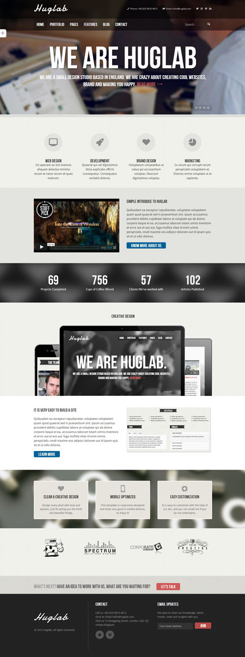 Huglab - Responsive Multi-Purpose Theme