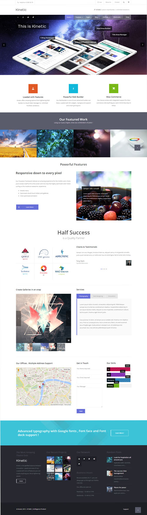 Kinetic - Multipurpose Responsive Theme