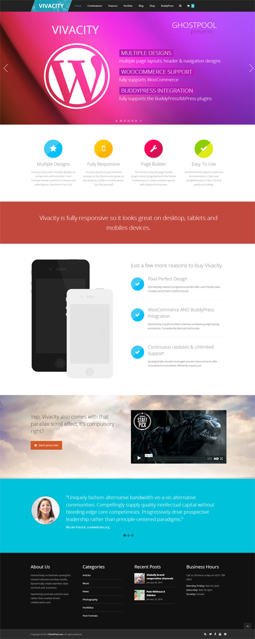 Vivacity: Ultimate Responsive Multi-purpose Theme