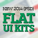 Post Thumbnail of 21 New PSD Flat UI Kits for Designers