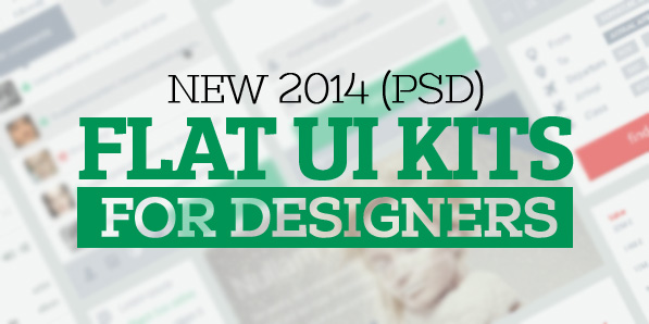 21 New PSD Flat UI Kits for Designers