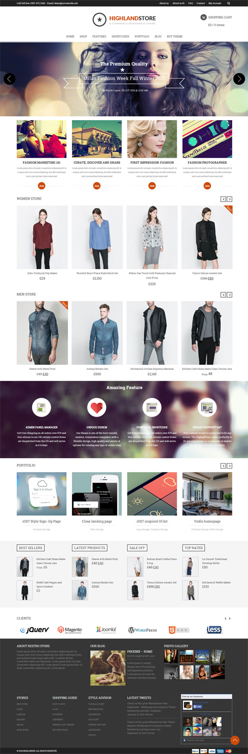 Highlander – Multipurpose Ecommerce Theme