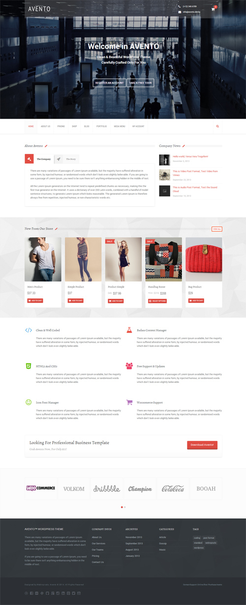 Avento - Multipurpose Business WordPress Theme