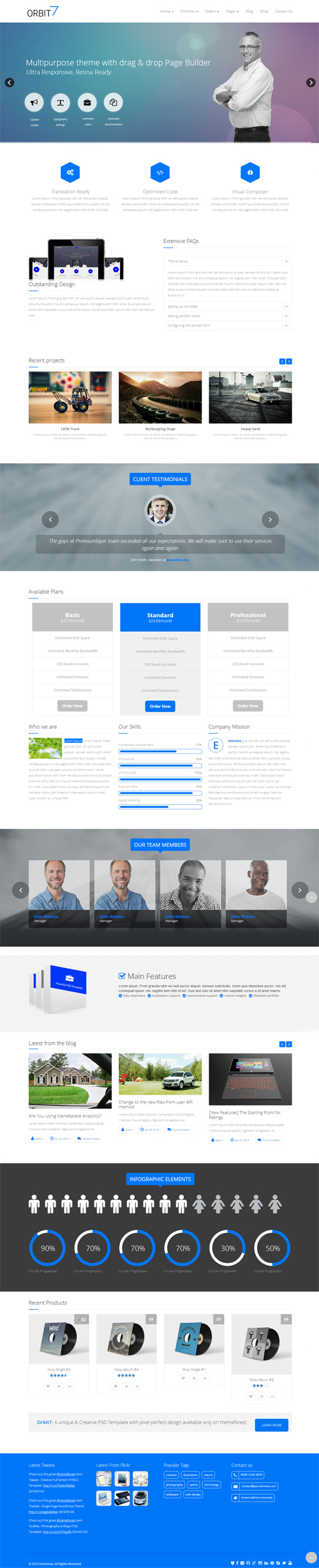 Orbit7 - Premium Multipurpose WordPress Theme