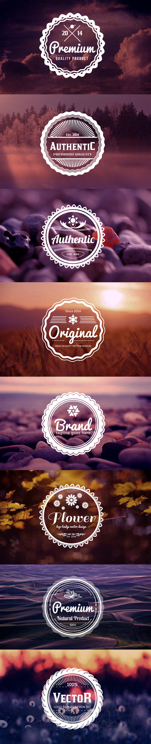Vintage Inspired Logo Badges