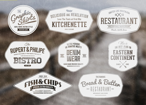 Vintage Labels / Retro Insignias