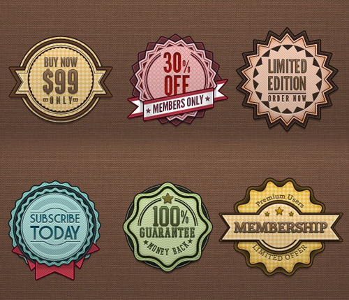 Retro Badges Vintage