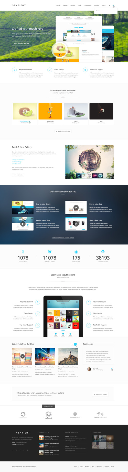 Sentient – Multi Purpose PSD Template