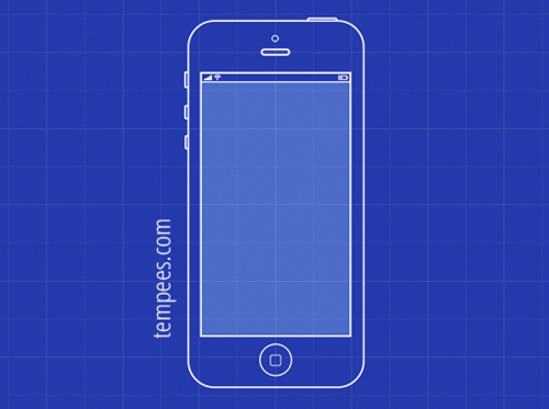 iPhone 5 blueprint vector graphics - 11
