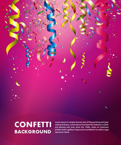 Colorful Confetti Vector Background For Birthday Celebration - 12