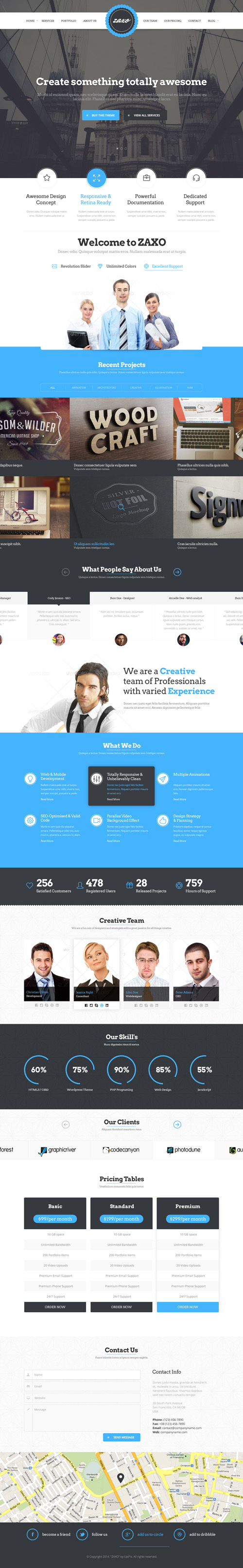 One page business psd templates design graphic design junction zaxo one page psd template flashek Images