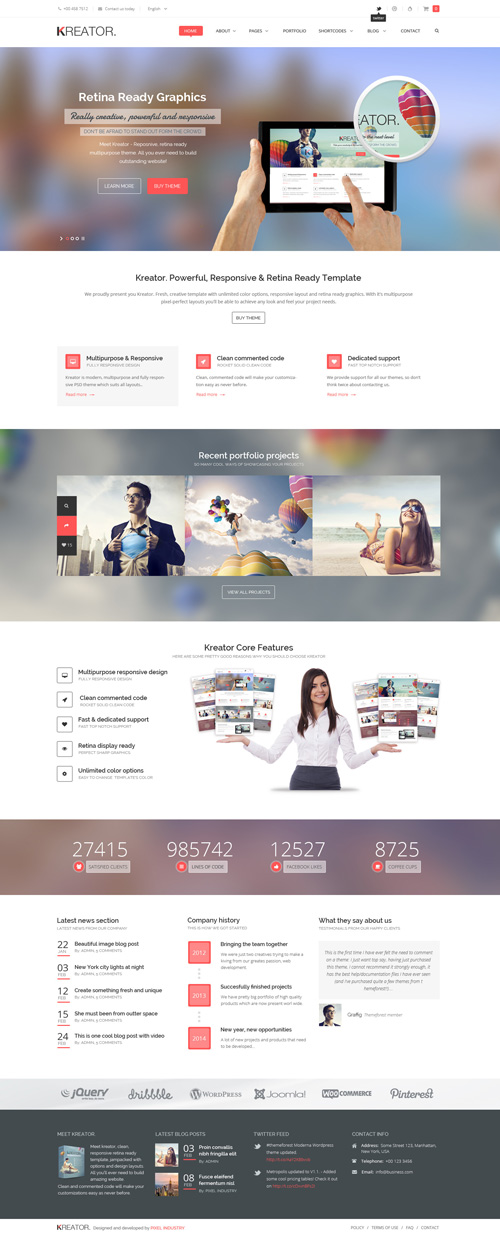 Kreator - Fresh and Creative PSD Template