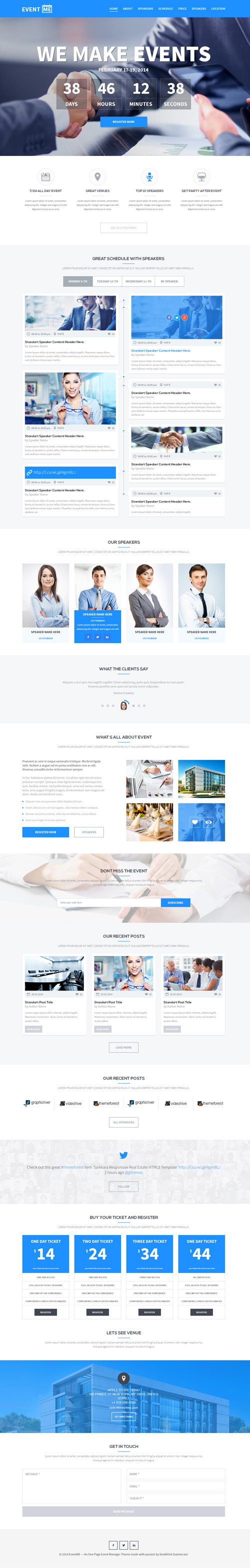 EventME-One Page Event Manager Theme