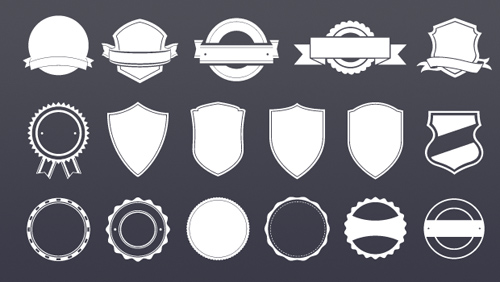 Badge Template Vector Graphics - 23