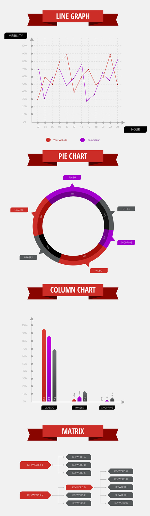Data Visualisation Infographics Vector Elements - 24