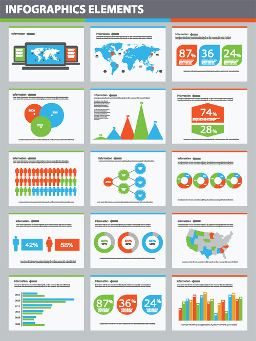Building Statistics Chart Vector Elements - 28