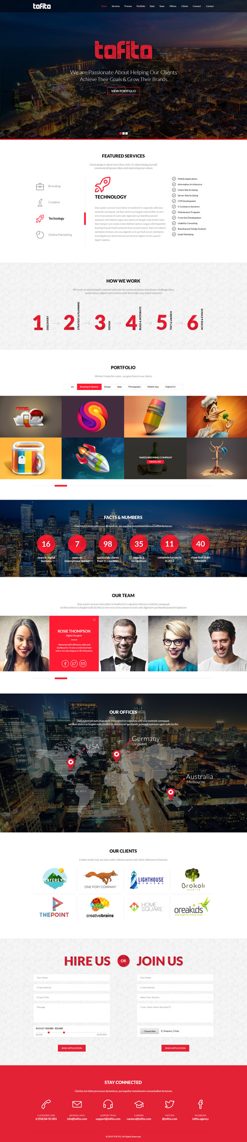 One page business psd templates design graphic design junction tofito one page business portfolio psd template pronofoot35fo Images