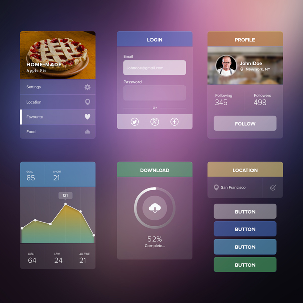 Transparent UI kit