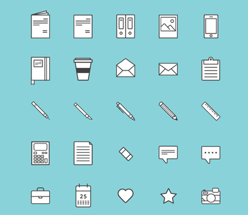 Illustrative Vector Icons - 9