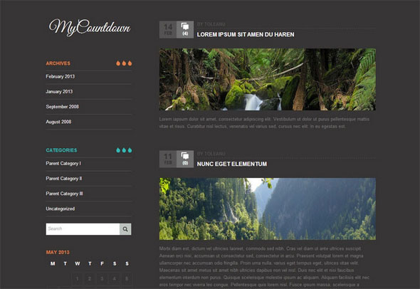 MyCountdown Premium WordPress Theme