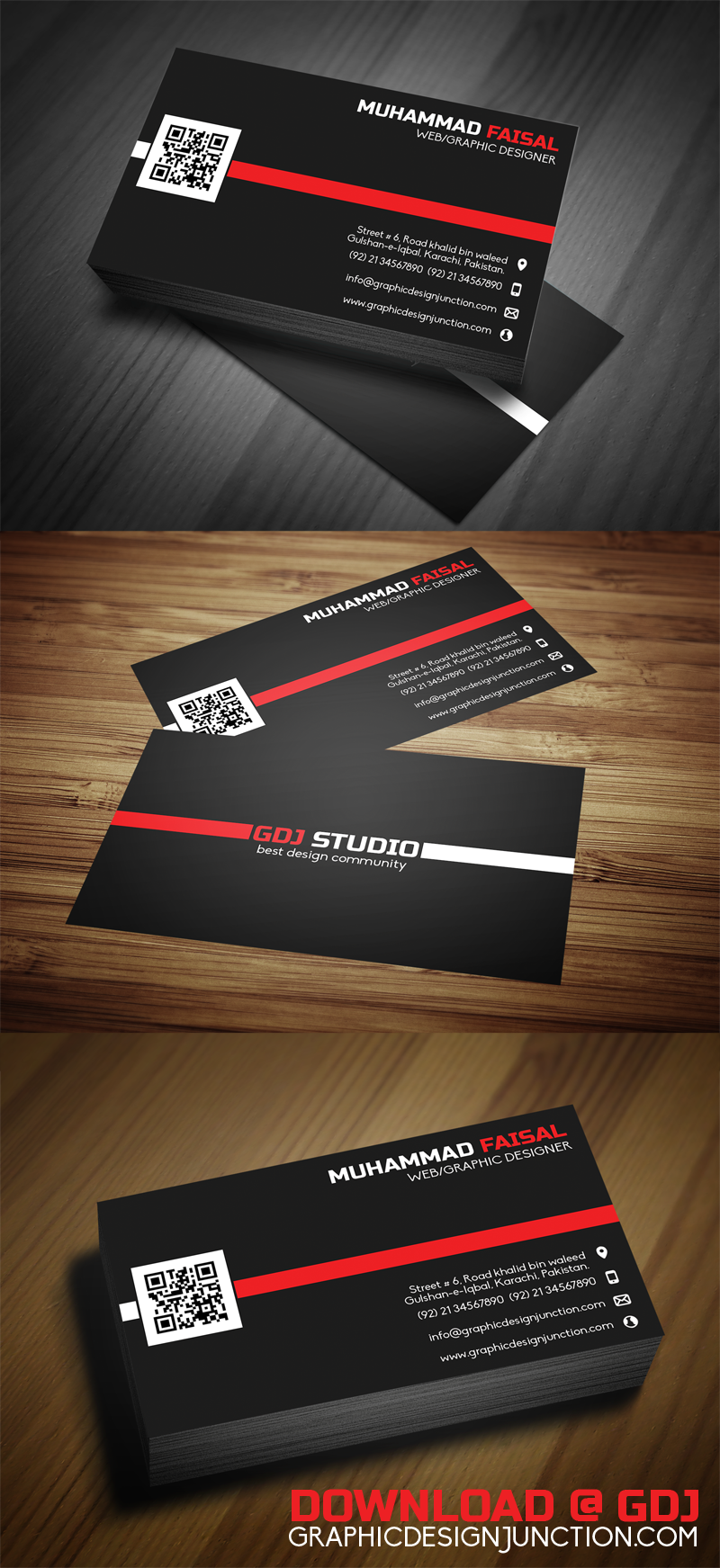 Business Card Mockup (PSD) | Freebies | Graphic Design Junction