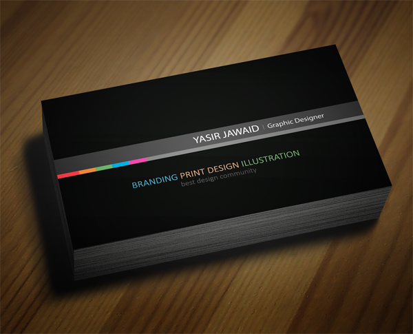 Creative business card black back