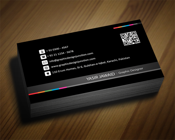 Creative business card black front