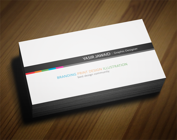 Creative business card white back