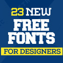 Post Thumbnail of 23 New Free Fonts for Designers