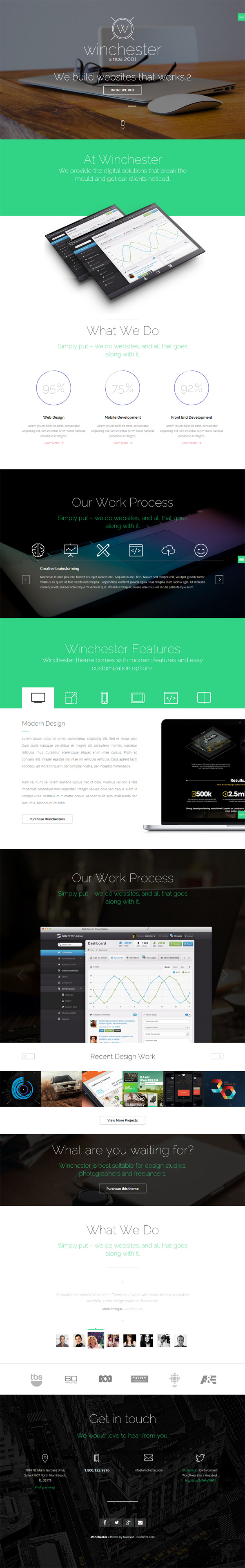 Html5 responsive templates with amazing ui design graphic design winchester html parallax one page template maxwellsz