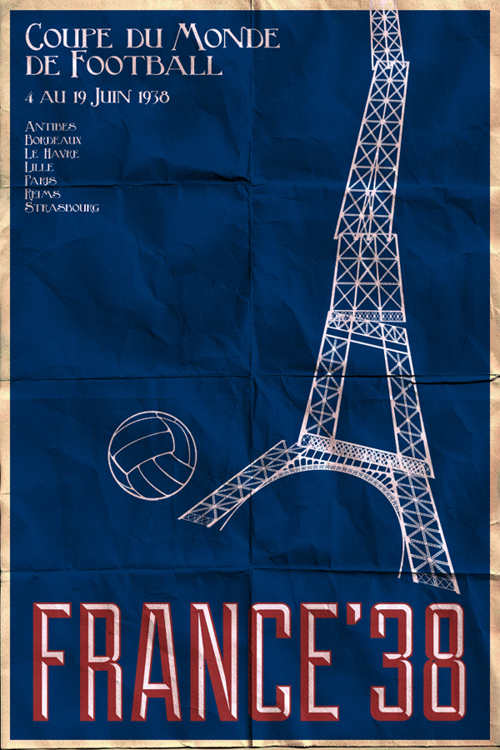 Fifa World Cup 1938 Poster
