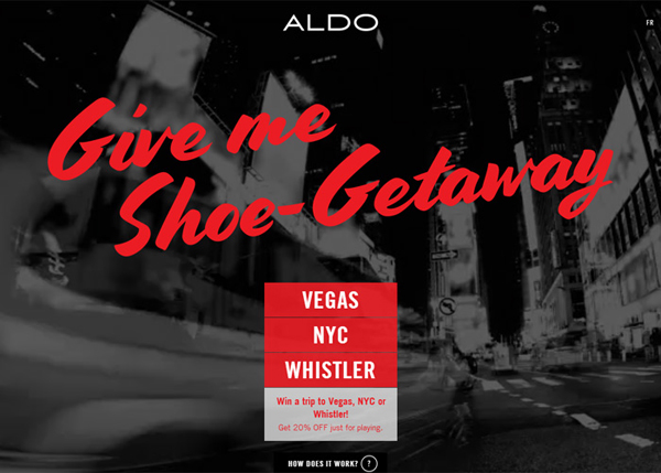 ALDO Shoe Getaway #CSS3 #website #design