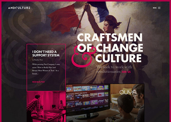 Andculture #CSS3 #website #design