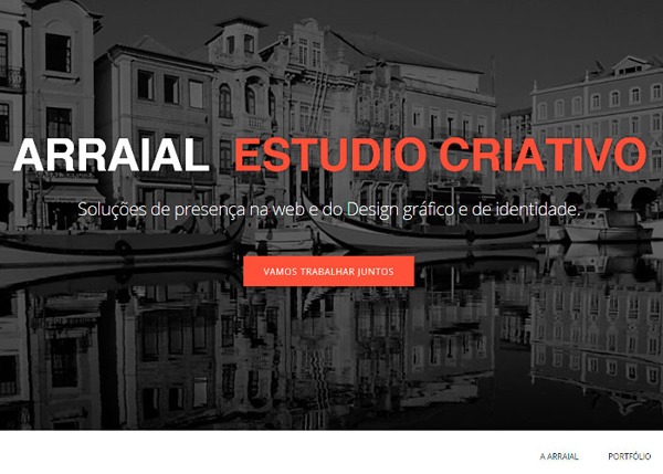 Arraial Estudio Criativo #CSS3 #website #design