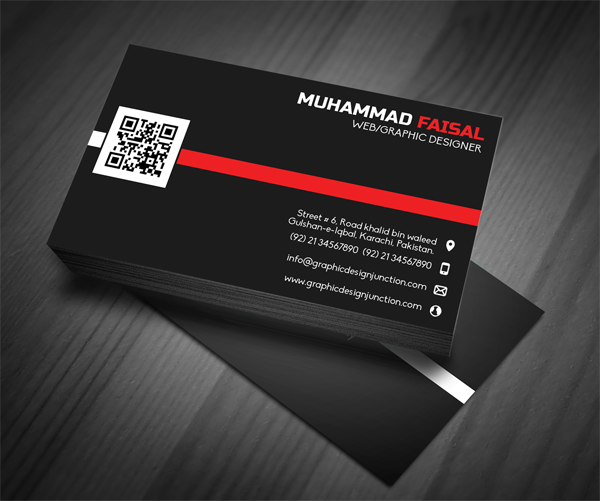 Business Card Front Mockup PSD