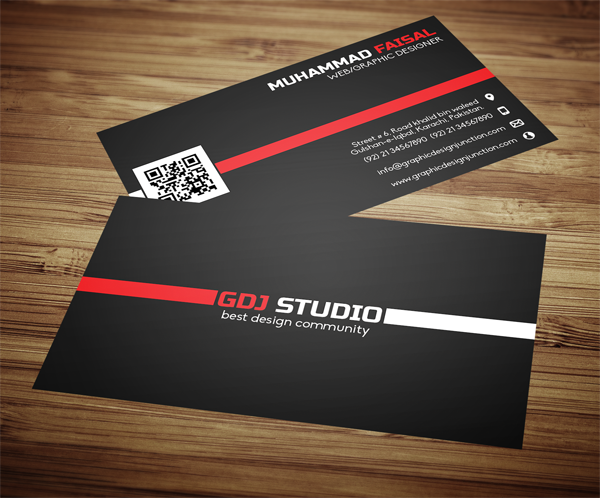 Business Card Front And Back Mockup PSD