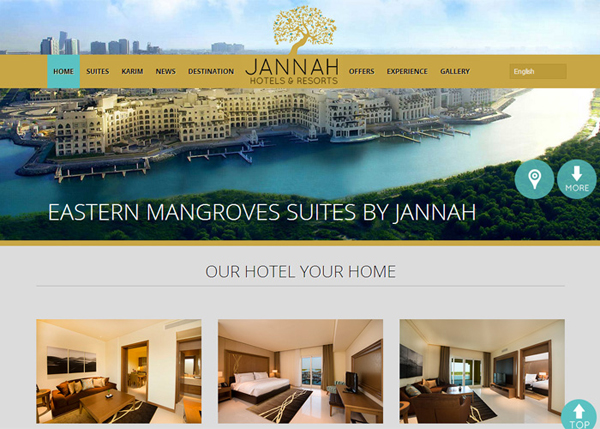 Jannah Hotels & Resorts #flatdesign #website