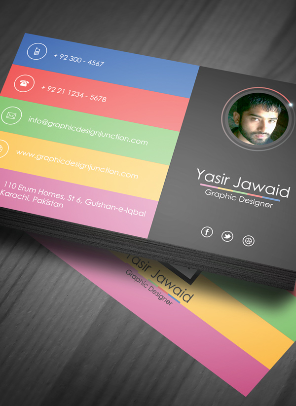 Business Card Template Photoshop Free - mandegar.info