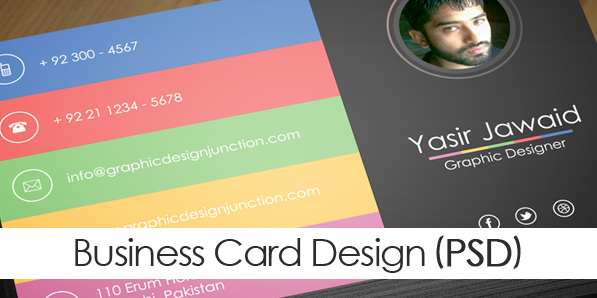 Free Modern Business Card Mockup PSD