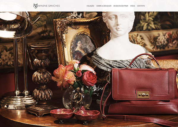 Mylene Sanches 2014 #flatdesign #website