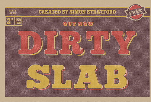 Free Font Dirty Slab