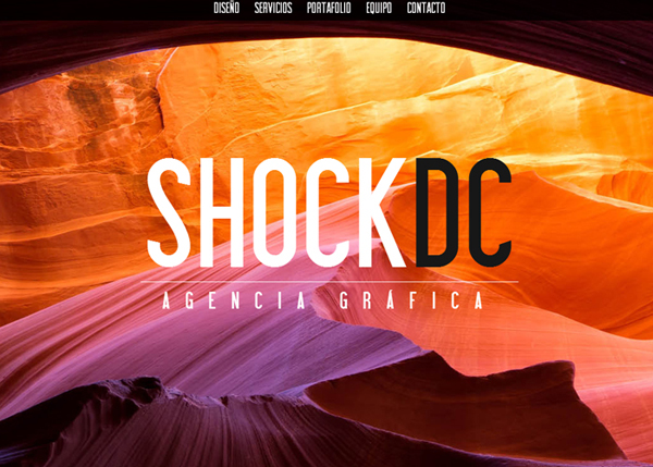 SHOCK DC Creative Agency #CSS3 #website #design
